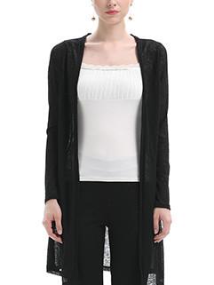 Back Wing Plus Size Women Long Cardigan