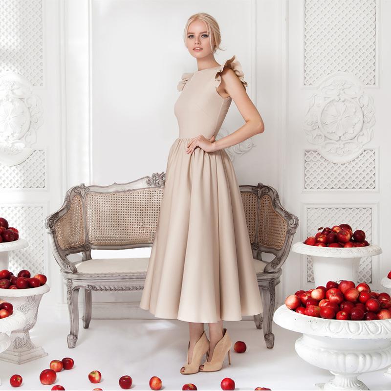Vintage Style Flounce Sleeveless Maxi Dress