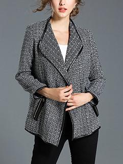European Style Lapel Houndstooth Coat