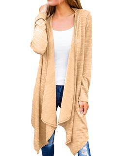 Autumn Solid Cardigan Long Sleeve Loose Long Coat