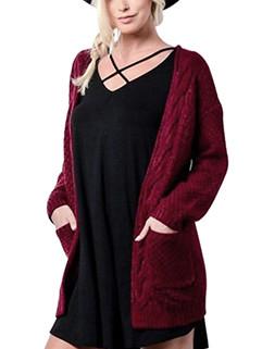 European Style Pocket Long Sweater Coat