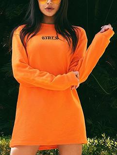 O Neck Loose Printing Long Sweatshirt