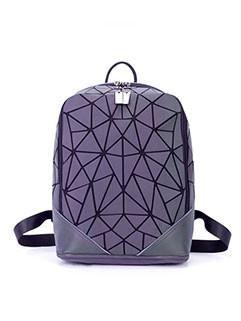 Japan Style Luminous Geo Printing Backpack