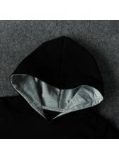 Black Short Sleeve Hooded Baby Onesie