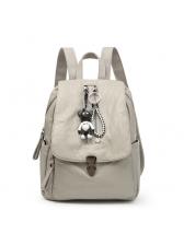 Fashion Zipper Up Hasp Bear Accessory Backpack