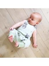 Animal Printing Sleeveless Infant Jumpsuit