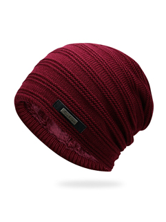 Unisex Solid Easy Match Knit Youthful Hat