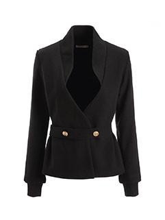 Euro Office Lady V-Neck Woolen Short Coat