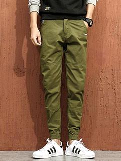 4XL Pocket Elastic Cuffs Chino Pants for Men