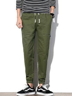 M-5XL Pocket Casual Style Men's Long Pants