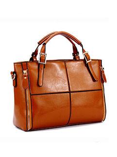 High Quality Patchwork Solid Vintage Handbag