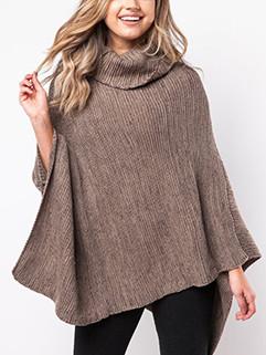 European Style High Neck Cloak Sweater