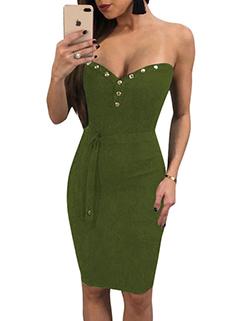 Hot Sale Beading Wrap Sexy Bodycon Dress