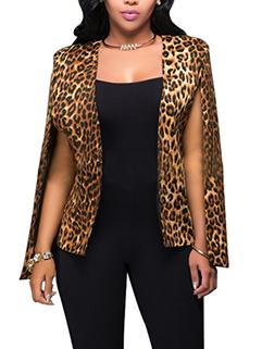 European Leopard Prints Women Fashion Suit