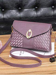 Korean Chic Metal Hasp Crossbody Mini Bag  (3-4 Days Delivery)