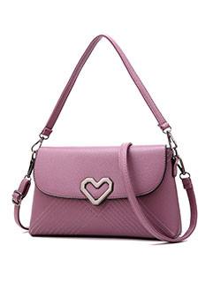 Heart Hasp Women PU Shopping Crossbody Bag  (3-4 Days Delivery)