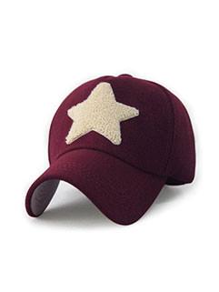 Star Design Woolen Casual Caps Unisex