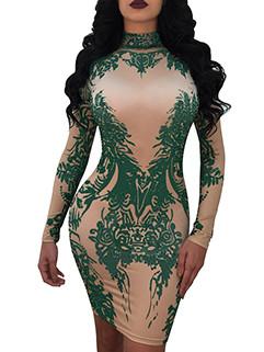 Euro Fashion Printing Skinny Night Dress