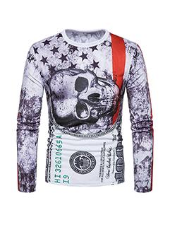 Hot Selling Skull Punk Style Regular Fit Tee