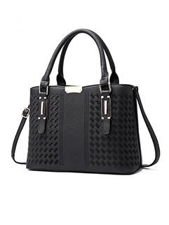Litchi Pattern Zipper Up European Hand Bag (3-4 Days Delivery)
