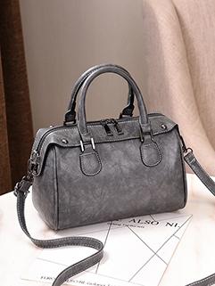 Euro Fashion Zipper Boston Hand Bag (3-4 Days Delivery)