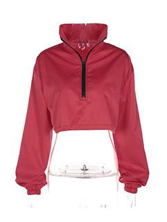 Stylish Solid Loose Short Hoodies