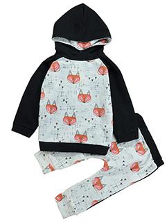 Hot Sale Printing Hooded Infant Set