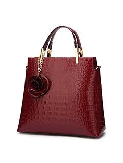 New Style Stereo Rose Decor Ladies Handbag