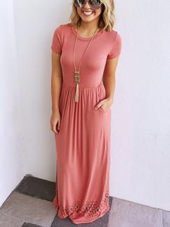Casual Design High Waist Midi Dress