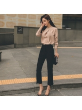 Easy Match High Waist Solid Pants