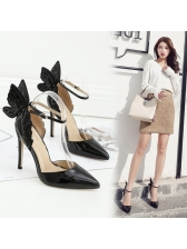 Stereo Butterfly Pointed Toe Stiletto Pumps