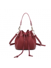 New Chic String All Match Bucket Bag Women