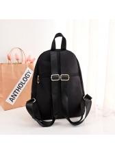 Korean Oxford Rivet Black Student Backpack