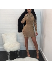 Hot Selling Sequined Fitted Wrap Dress
