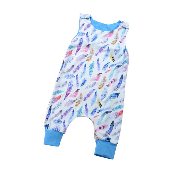 Hot Selling Printed Sleeveless Infant Romper