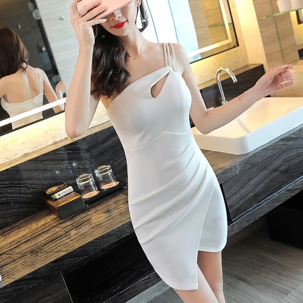 Sexy One Shoulder Night Club Slit Dress