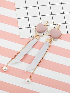 Korean Heart Ring Pear Elegant Earrings