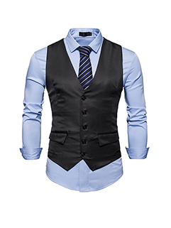All Match V Neck Button Down Business Vest