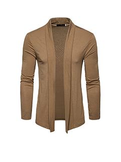 New Arrival Solid Lapel Cardigan Coat For Men