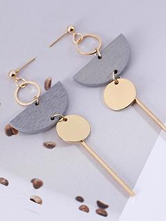 Retro Style Geometric Wool Tassel Earrings