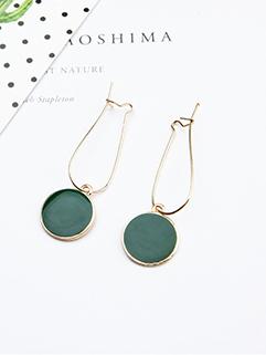 Japan Refresh Style Green Rings Pendant Earrings