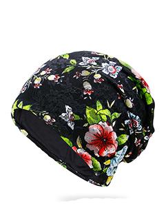 Woman Floral Design Sun Proof Hats