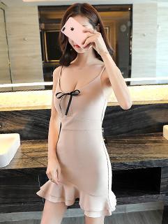 Bow Spaghetti Straps Sexy Bandage Dress