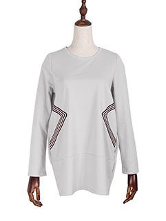 Loose Casual Crew Neck Pattern Sweatshirt