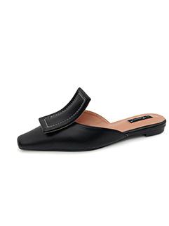 Unique Design Square Toe Ladies Slippers