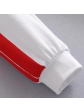 Contrast Color Elastic Waist Sweatpants(3-4 Days Delivery)