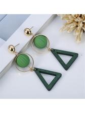 Korean Geometric Design Personality Earrings