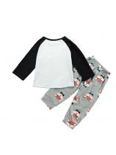 Animal Printed Tee With Pants Infant Set