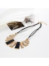 Euro Fashion Trend Geometric Pendant Necklace