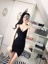 Sexy Strap Low Chest Slim Skinny Wrap Dress